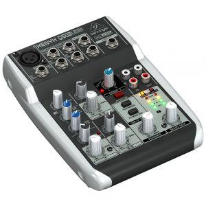 BEHRINGER XENYX Q502 USB Mixer 5 Canali Audio DJ e Karaoke