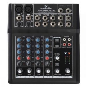 Soundsation Neomix 202 Mixer live, studio o karaoke da 4 canali