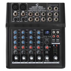 Soundsation Neomix 202 FX - mixer 6 canali (2 stereo) con effetti per karaoke / live / studio