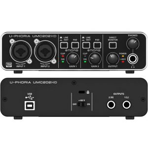 BEHRINGER UMC202 HD Interfaccia audio usb 24 bit/192 khz con Preamp Midas
