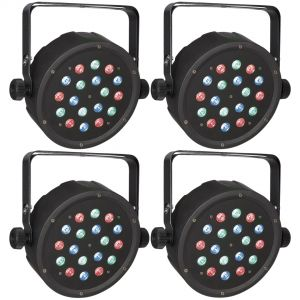 4 x Showtec Club Par 18/1 RGB - Par LED RGB