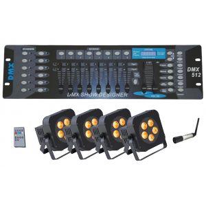 SOUNDSATION Wireless Stage Lighting Pack PAR-18W-5-BW