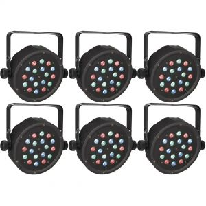 6 x Showtec Club Par 18/1 RGB - Club Par LED RGB