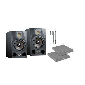 Adam A5X Kit - Coppia Monitor con Cavi e Pannelli Fonoassorbenti
