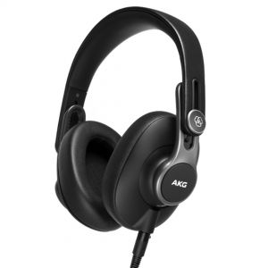 AKG K371 Cuffie da Studio Chiuse Over-Ear Richiudibili Nere