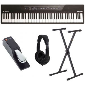 Alesis Recital Pianoforte Digitale 88 Tasti + Pedale SP2 + Supporto + Cuffia