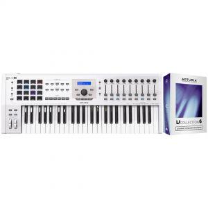 Arturia KeyLab 49 MKII White Controller Tastiera 49 Tasti/V Collection 6 Omaggio