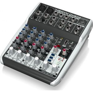 BEHRINGER QX602 Mixer 6 canali Lettore MP3 Audio DJ e Karaoke