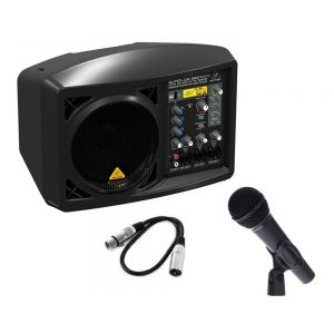 Kit Karaoke / Conferenza Diffusore BEHRINGER B207mp3 con Microfono Dinamico / Cavo Audio / Bundle