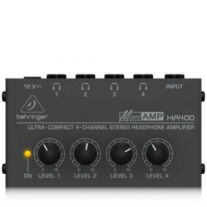 BEHRINGER HA400 Amplificatore per cuffia ultra compatto a 4 canali