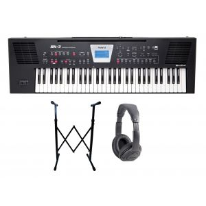 ROLAND BK3 BK Backing Keyboard 61 Tasti Nera / Cuffie / Supporto