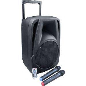 KARMA BM 882 - Diffusore Amplificato da 80W + 2 Radiomicrofoni