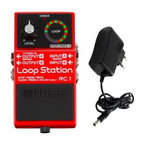 BOSS RC1 Pedale Effetto per Chitarra Loop Station / Alimentatore