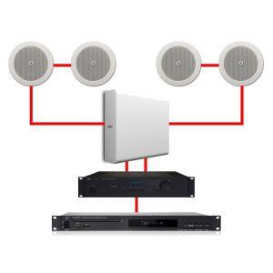 Apart Impianto Audio Filodiffusione ad Incasso 4.1 280W