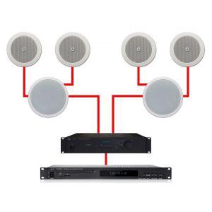 Apart Impianto Audio ad Incasso per Filodiffusione 4.2 280W