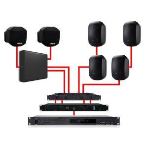 Apart Impianto Audio Filodiffusione Nero 540W