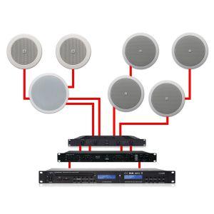 Apart Impianto Audio Filodiffusione Dual Zone da Soffitto 460W