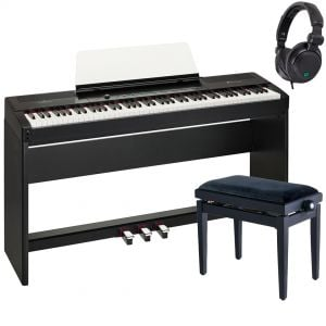 Soundsation Primus Set Pianoforte Digitale Nero con Stand Panca e Cuffie