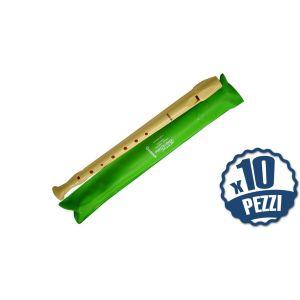 HOHNER 9508 - 10 Flauti Dolci Soprano Diteggiatura Tedesca Bundle Speciale Scuola