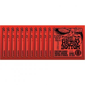 ERNIE BALL 2215 - Confezione da 12 Mute Skinny Top Heavy Bottom (010-052)