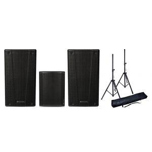 DB TECHNOLOGIES Sistema Audio Completo 860W Coppia B-Hype 10 Casse Attive / Subwoofer / Stativi