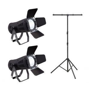 Soundsation 2 x Scenic 200W COB WW con Stand