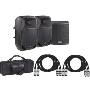 Soundsation Impianto Audio DJ 2960W - Diffusori Amplificati/Subwoofer/Cavi/Borsa