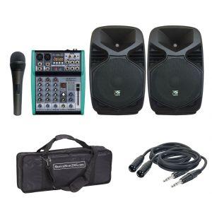 "Kit Completo da 10"" 400 W Impianto Audio Karaoke Dj"