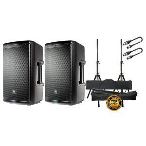 JBL EON 610 Set Casse Attive / Supporti / Cavi XLR/XLR 10mt Bundle
