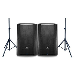 JBL Coppia PRX812W Monitor da Palco 1500W / Speaker Stand