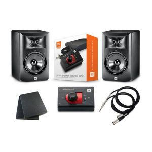 JBL LSR308 Set Studio Monitor Attivi / Nano Patch Plus Isolanti / Cavi / Bundle