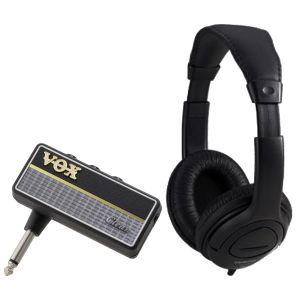 Vox Amplug 2 Clean Bundle - Mini amplificatore a Jack per Chitarra con Cuffia