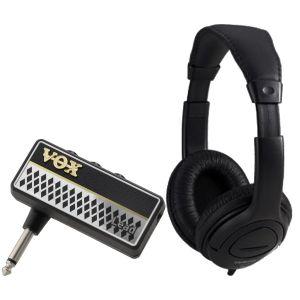 Vox Amplug 2 Lead Bundle - Mini amplificatore a Jack per Chitarra con Cuffia