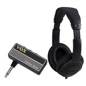 Vox Amplug 2 Classic Rock Bundle - Mini amplificatore a Jack per Chitarra con Cuffia