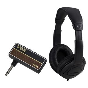 Vox Amplug 2 AC30 Bundle - Mini amplificatore a Jack per Chitarra con Cuffia