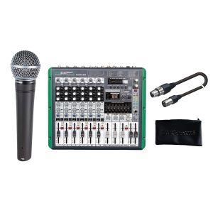 SHURE Beginner Singer Pack Microfono Dinamico Cardioide / Mixer / Custodia / Cavo XLR/XLR Bundle