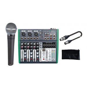 SHURE Console Set Completo DJ, Karaoke e Canto