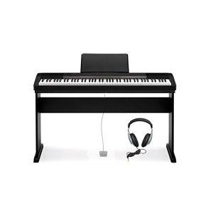 Casio Set CDP 130 BK - Pianoforte Digitale con Supporto e Cuffie