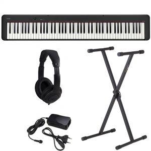 Casio CDP S100 Pianoforte Digitale con Supporto e Cuffie
