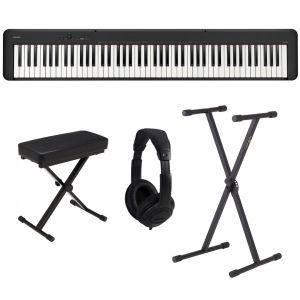 Casio CDP S100 Set - Pianoforte Digitale con Supporto Panca e Cuffie