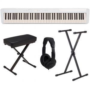 Casio PX S1000 WE Pack - Pianoforte Digitale Bianco con Supporto Panca e Cuffie