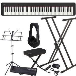Casio CDP S100 Set Pianoforte Digitale con Supporto Panca, Cuffie e Leggio