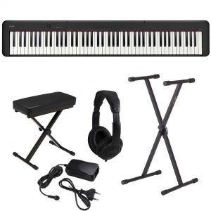 Casio CDP S100 Set - Pianoforte Digitale con Supporto Panca e Cuffie