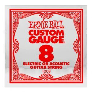 ERNIE BALL 1008 - Corda Singola per Elettrica o Acustica Custom-Gauge (008)