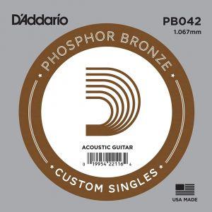 D'Addario PB042 Corda Singola per Acustica Phosphor Bronze (042)