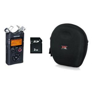 TASCAM DR40 V2 Registratore Palmare con Scheda SD 2GB e Custodia