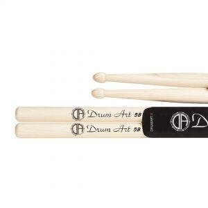 Drum Art Hickory 5B - Coppia Bacchette per Batteria Punta a Ghianda