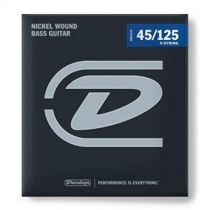 Dunlop DBN45125 Nickel Wound Medium Muta Cordiera per Basso 5 Corde (45-125)