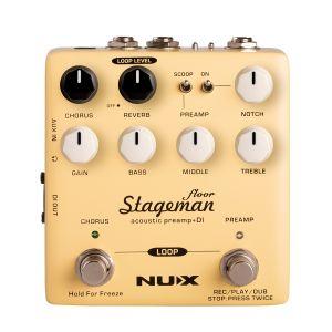 Nux Stageman Floor Preamplificatore DI per Chitarra Acustica Effetto a Pedale