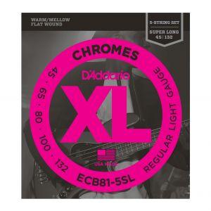D'ADDARIO ECB81-5SL - Muta per Basso Elettrico 5 Corde Chrome Regular Light (045/132)